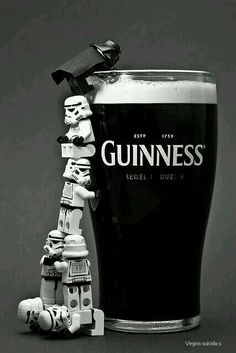 While I'm not a huge fan of beer, this ad is adorable. Combining Star Wars with just about anything will help with memorability. I love how the designers used Lego Storm Troopers and a Darth Vader in the ad. Lego Star Wars, Star Wars Day, Star Trek, Legos, Lego Lego, Darth Vader Lego, Starwars Lego, Lego Stormtrooper, Darth Maul