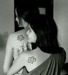 mother-daughter tat or for sisters. cute.