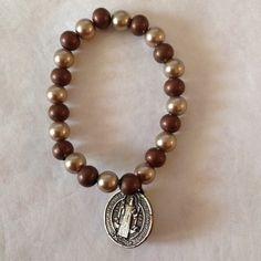 San Benedict Bracelet Pulcera De Cristales Con Medalla De San Benito | eBay