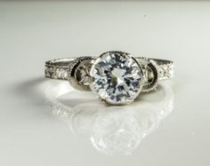 Platinum Solitaire Engagement Ring Exclusive Design from CentralPark Platinum 100 % Natural Materials Only