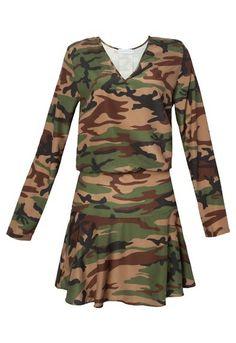 MARKET 33 - Vestido Market 33 camuflado - verde - OQVestir