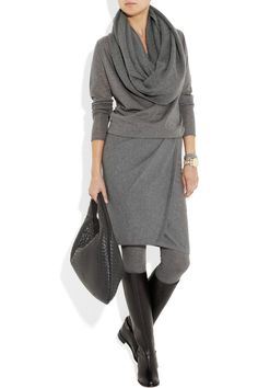 Great winter outfit. Donna Karan. I think I could be happy if I never wore anything else!