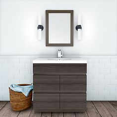 The Boardwalk Collection bathroom vanities offers a contemporary approach in both design and finish. With its sleek lines and unique handless soft closing drawers, this collection is designed for todays modern living. Manufactured using a combination of solid colours and beautiful natural looking wood grains, the Boardwalk Collection transforms bathrooms into a city oasis.