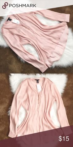 H&M Blouse Baby Pink Color Tops Blouses