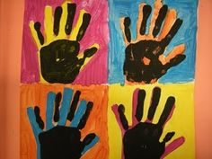 i can't wait to do these Andy Warhol Handprints!  Might try with my Kinders.