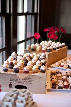 Cupcake Display - another cute way to incorporate misc. display risers