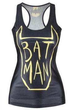 Gilets Et Gilets Sexy Refroidissent Bat Man Fille Vest