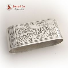 To Market  Nursery Rhyme Napkin Ring Webster Sterling Silver #Webster