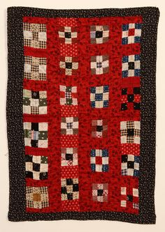 "Nine Patch Doll Quilt: Ca. 1890; W.Va., 16 1/2 x 23 1/2"", Stella Rubin"