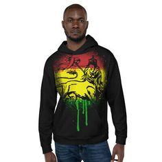 Lion Of Judah Unisex Black Hoodie Rasta Jah Rastafari Roots Reggae Colors | eBay Jah Rastafari, Lion Of Judah, Reggae Music, Graphic Sweatshirt, T Shirt, Hoodies, Sweatshirts, Black Hoodie, Roots