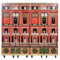 Piero Fornasetti Pompeiana Folding Screen | From a unique collection of antique and modern screens at https://www.1stdibs.com/furniture/more-furniture-collectibles/screens/