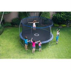 Pallet ~ BouncePro 14' Trampoline w/ Proflex Enclosure and Electron Shooter Game - http://hobbies-toys.goshoppins.com/outdoor-toys-structures/pallet-bouncepro-14-trampoline-w-proflex-enclosure-and-electron-shooter-game/