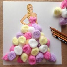 Armenian fashion illustrator Edgar Artis creates gorgeous dress designs with everyday objects he finds at home. From a Nutella dress, to paper clip garments, Edgar doesn't seem to be running out of ideas anytime soon. Fashion Design Drawings, Fashion Sketches, Arte Fashion, Paper Fashion, Punk Fashion, Lolita Fashion, Fashion Illustration Dresses, Fashion Illustrations, Illustration Mode