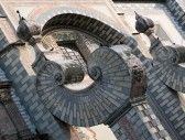 QUERETARO : Ver Resumen de la única contrafuertes del siglo 18 la iglesia barroca de Santa Rosa de Viterbo, en Querétaro, México. Foto de archivo