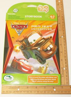 LEAPFROG TAG ACTIVITY READING STORY BOOK DISNEY PIXAR CARS 2 PROJECT UNDERCOVER #LeapFrog