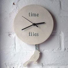 'Time Flies' Pendulum Clock
