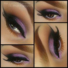 Purple eyeshadow look @ makeupbysol