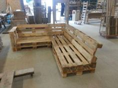 Loungebank van pallets? Ook andere meubels van Euro pallet! - Tuinmeubelen - Marktplaats.nl