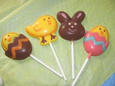 Chick in egg, Easter bunny, and the cutest little chick you ever did see made of chocolate!
