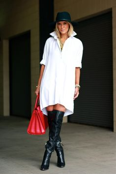"really loving Courtney's ""borrowed from the boys"" outfit!  http://thecourtneykerr.com/my-boyfriends-button-down/"