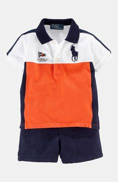 Ralph Lauren Polo & Shorts (Baby Boys) available at #Nordstrom