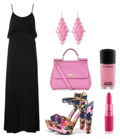 """""""03.06"""" by vicinogiovanna ❤ liked on Polyvore featuring Topshop, My Delicious, Amrita Singh, Dolce&Gabbana, Pink, Flowers, maxidress, pinkandblack and summer2015"""
