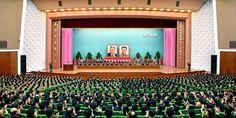 위대한 조국해방전쟁승리 63돐경축 중앙보고대회 진행