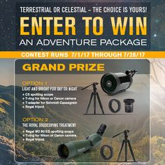 Help me win this awesome competition from @Celestron #AdventureGiveaway #Celestronrocks