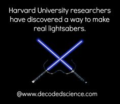 Learn more @ http://www.decodedscience.com/real-lightsabers-physics-breakthrough-creates-new-form-matter-based-photons-interaction/37494  #lightsabers #physics #technology