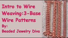 Wire Weaving With 3 Base Wires - Wire Weaving Intro. Wire Weaving Patterns Tutorial: Learn 5 wire weaving patterns that all use 3 base wires! Have fun practicing with these wire weaving patterns,, as well be using these weaves in future wire jewelry Wire Jewelry Making, Handmade Wire Jewelry, Wire Wrapped Jewelry, Wire Jewellery, Antique Jewellery, Metal Jewelry, Gold Jewelry, Beaded Jewelry, Wire Tutorials