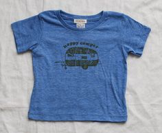 Milk and Honey Baby Happy Camper T-shirt Blue