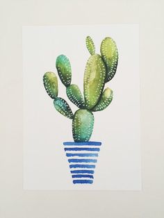Print of original watercolor painting of a by OliveTwigStudio