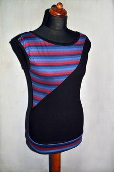 Top Streifen schwarz Shirt gestreift sportlich von JaqueenFashion, €29.00