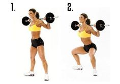 If you want to target the butt and inner thighs specifically, step out into a wide stance when doing barbell squats.