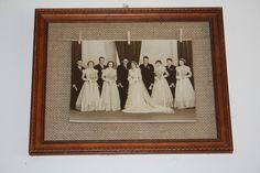 Burlap photo frame.