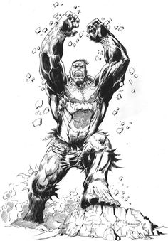 #Hulk #Fan #Art. (Hulk Inked) By:MenguzzOArt. (THE * 3 * STÅR * ÅWARD OF: AW YEAH, IT'S MAJOR ÅWESOMENESS!!!™)[THANK Ü 4 PINNING!!!<·><]<©>ÅÅÅ+(OB4E)