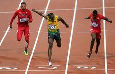 Usain Bolt gana los 100m planos de los Juegos Olímpicos de Londres 2012. | Créditos: Edixon Gámez / Archivo Cadena Capriles