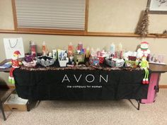 My Avon booth at the holiday open house in Hesston KS. November 2, 2013. Avon Rep Emily Wiebe.