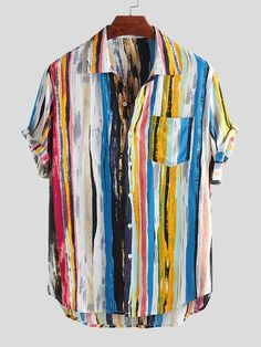 Men's Floral shirt   Beach Men's Floral Shirt - Buy 5 Get 6th Free Camisa Vintage, Site Mode, Loose Shorts, Themed Outfits, Shorts With Pockets, Summer Shirts, Clothes For Sale, Casual Shirts, Casual Outfits