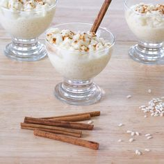 A delicious creamy Greek rice pudding recipe topped with cinnamon. The perfect dessert for any occasion. Known as Rizogalo, it's served cold and goes great after a Greek meal.