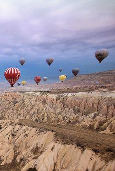 Hot Air Balloons in Cappadochia - Turkey@Just1WayTicket