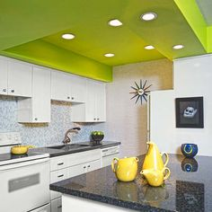 Valspar's vivid Sassy Green gives this kitchen an unexpected dose of energy. |  Photo: Jeff Green/Corner House Stock | thisoldhouse.com