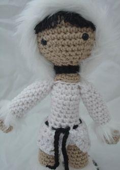 Amigurumi crochet cute doll white black Lady Snow by LadyNocturna