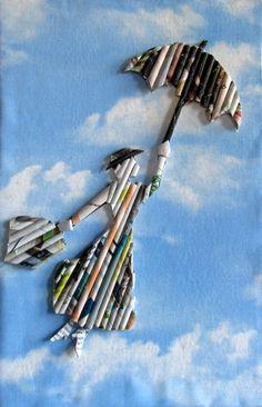 DIY silueta con papel reciclado - Diydetodounpoco