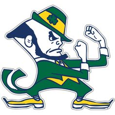 Put 'em up! The Notre Dame Fightin' Irish.
