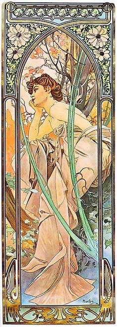 Alphonse Mucha Evening Reverie (Reverie Du Soir)