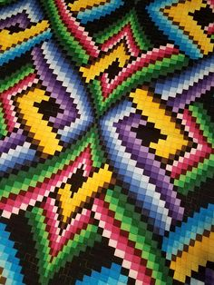Items similar to Bargello Quilt on Etsy Colchas Quilt, Bargello Quilt Patterns, Bargello Needlepoint, Bargello Quilts, Tapestry Crochet Patterns, Loom Patterns, Beading Patterns, Cross Stitch Patterns, Quilting