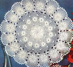 Vintage Crochet Doily Pattern Erin Irish Rose Flower