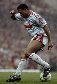 The great John Barnes during the 1988-89 season. #LFC #legend