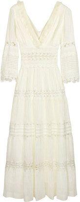 ShopStyle: Chloé Linen and cotton maxi dress
